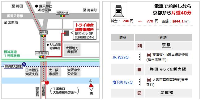 大阪地方裁判所より徒歩1分 地下鉄御堂筋線淀屋橋 徒歩7分